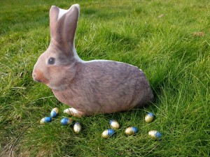 Le lapin de Pâques et ses oeufs!